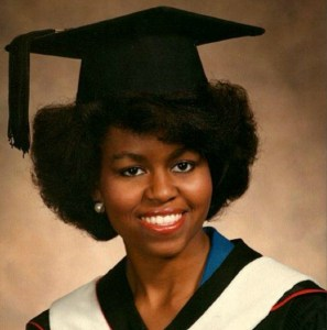 Michelle Obama's natural hair is somewhere in the Type 4s. Keratin treatments appear to have been a factor in her White House styles. Uncurly.com