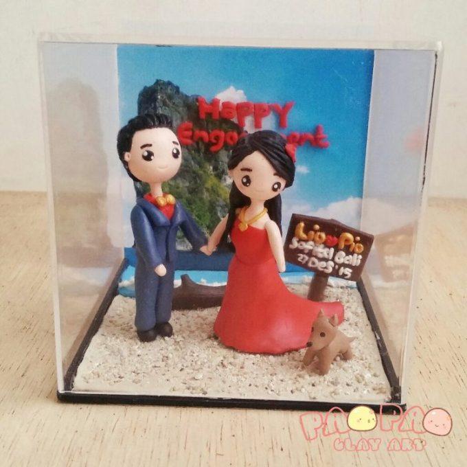 kado nikah Pajangan wedding dari Clay