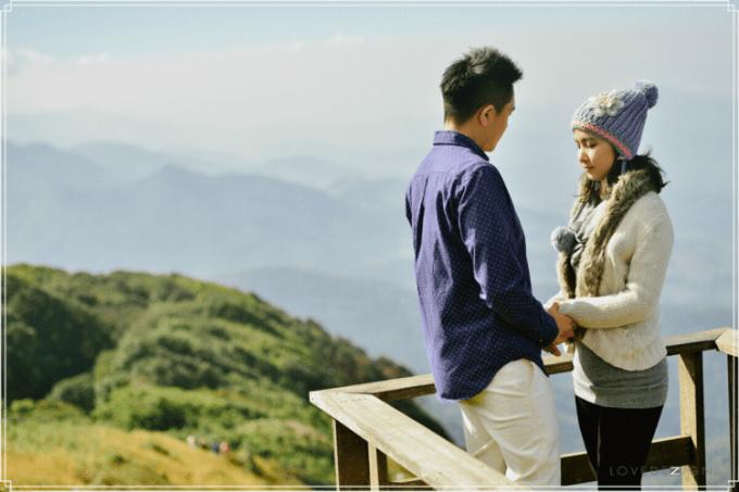 Foto Prewedding hobi naik gunung