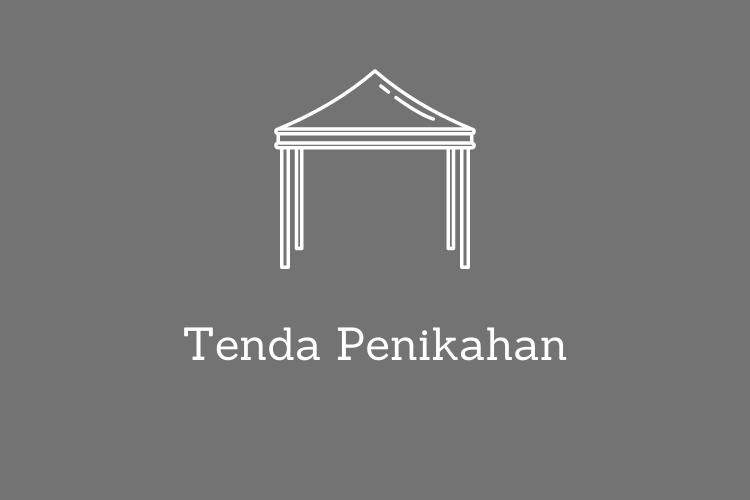 desain simpel tenda pernikahan