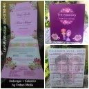 Undangan Kalender Tema Vintage Flower + Chic, Sherly Samarinda Kalimantan