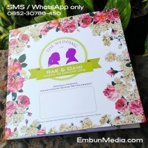 Cover Undangan Bunga Vintage Siluet by Embun Media