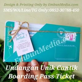 Undangan Unik Tiket Pesawat Boarding Pass