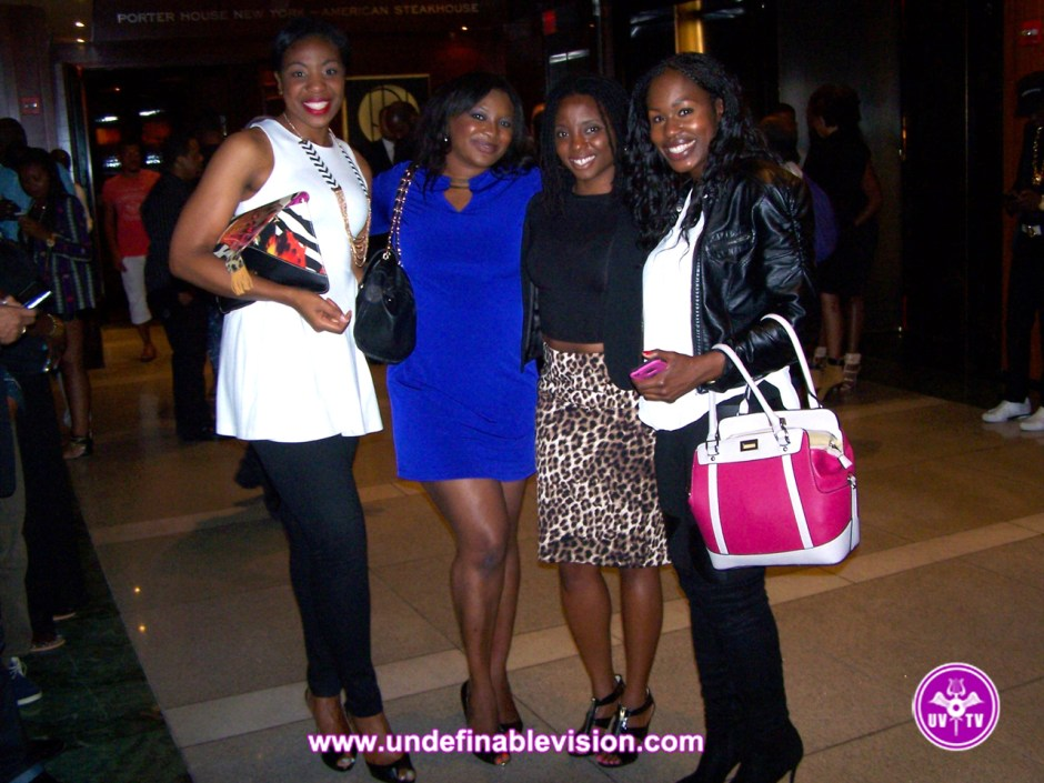 Beautiful Ladies enjoying the night at Chibase Productions Launch Event at Stone Rose Lounge
