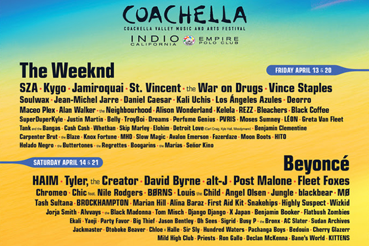 About This Year's Coachella Line Up