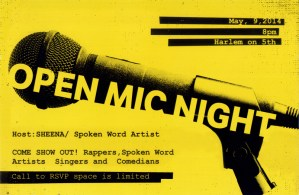 Undefinable Vision TV will be in the Building at Harlem on Fifth Open Mic Night May 9th, 2014 Hosted by: SHEENA (Spoken Word Artist)