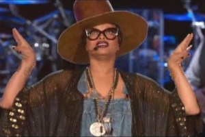 Erykah Badu hosts the Soul Train Music Awards.