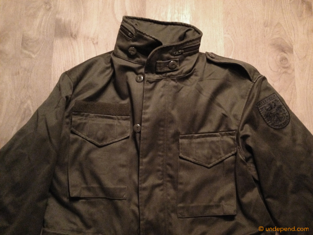 My new jacket for winter bushcraft: