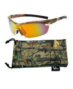 Hornz Polarized Sunglasses Men Camouflage Wrap Around