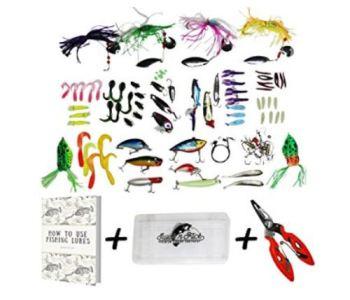 Fishing Lure Kit - Tackle Box Set Combo