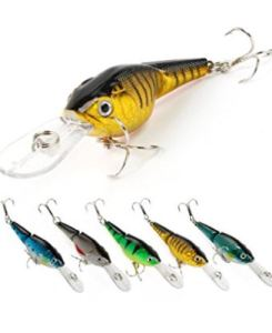 Fishing Lures Multi-Jointed Wobbler Crankbait Minnow and Popper Diving Topwater Lure