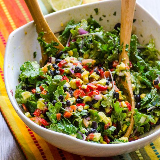 Healthy Creamy Mexican Kale Salad Recipe