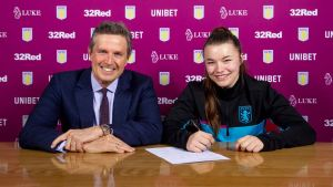 Jodie Hutton Signs First Professional Contract With Aston Villa Ladies