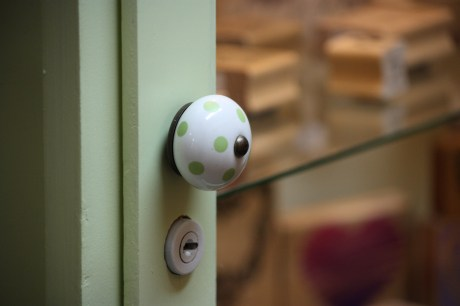 I liked this cute knob on a cabinet full of stamps