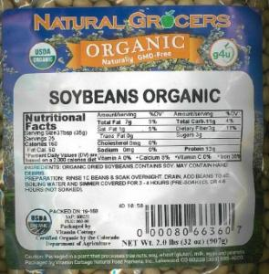 Natural Grocers recalls organic soybeans