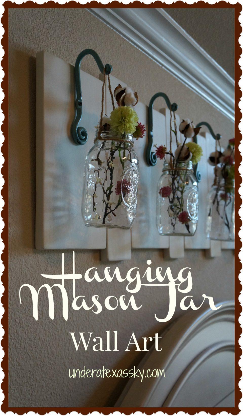 Hanging Mason Jars Under A Texas Sky
