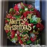 Christmas Deco Mesh Wreath Instructional Tutorial Under A Texas Sky