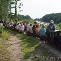 En härlig dag vid en miniatyr järnväg!