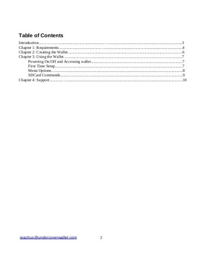 DIY Bowser Wallet PDF ToC
