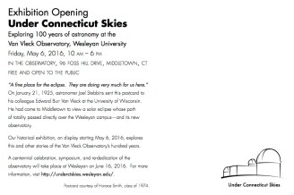 Exhibit Opening Information (backside of postcard)