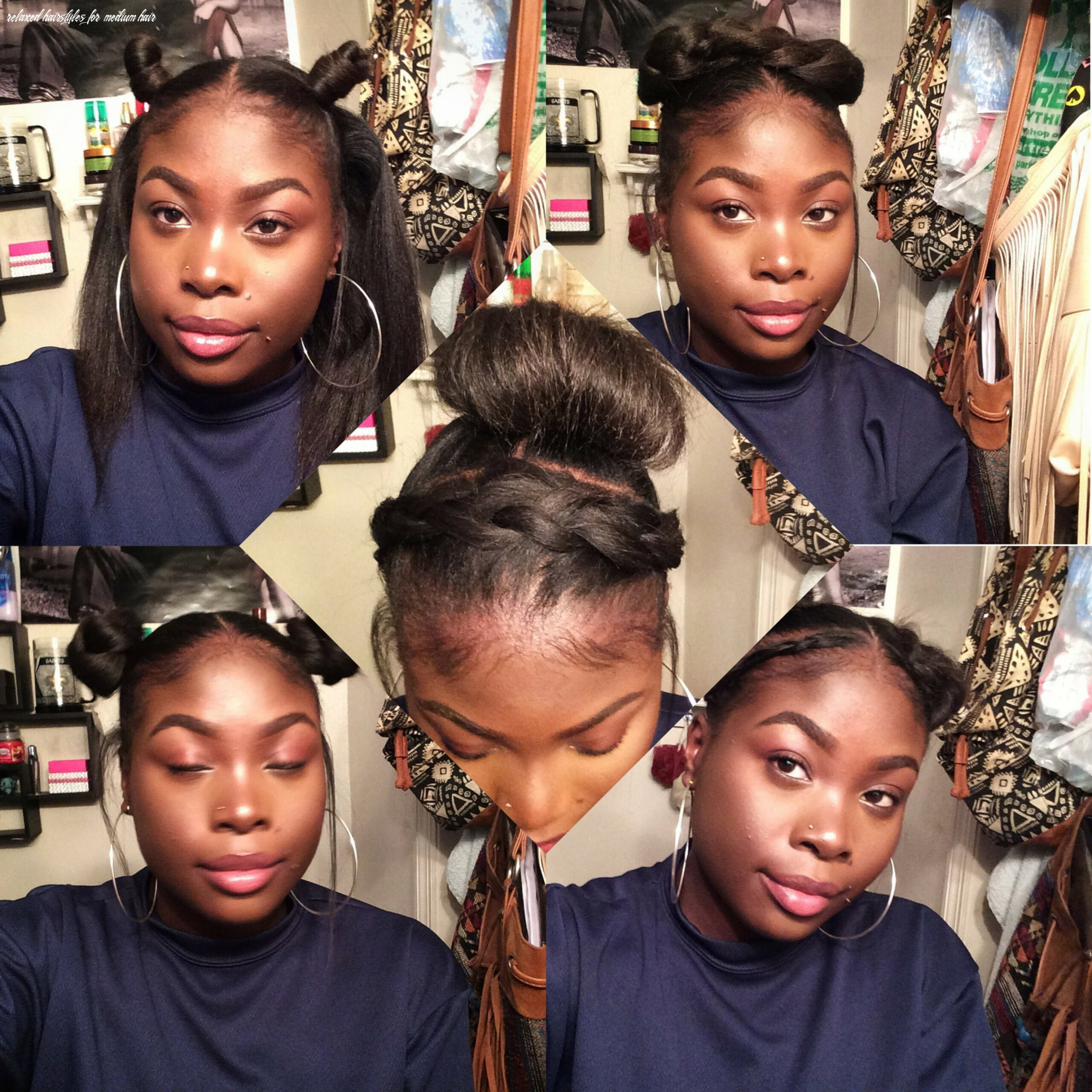 11 Superb Relaxed Hair Styles In 11