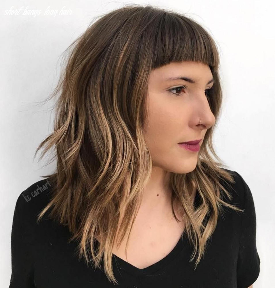 9 Modern Ways to Style a Long Bob with Bangs   Long bob with ...