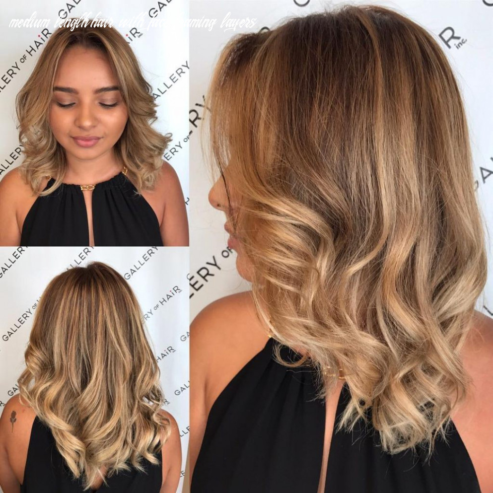 Blonde Sun Kissed Layered Cut with Large Soft Waves and Parted ...