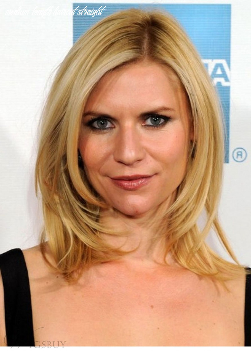 Claire Danes Medium Length Hairstyles Straight Synthetic Hair Wigs ...