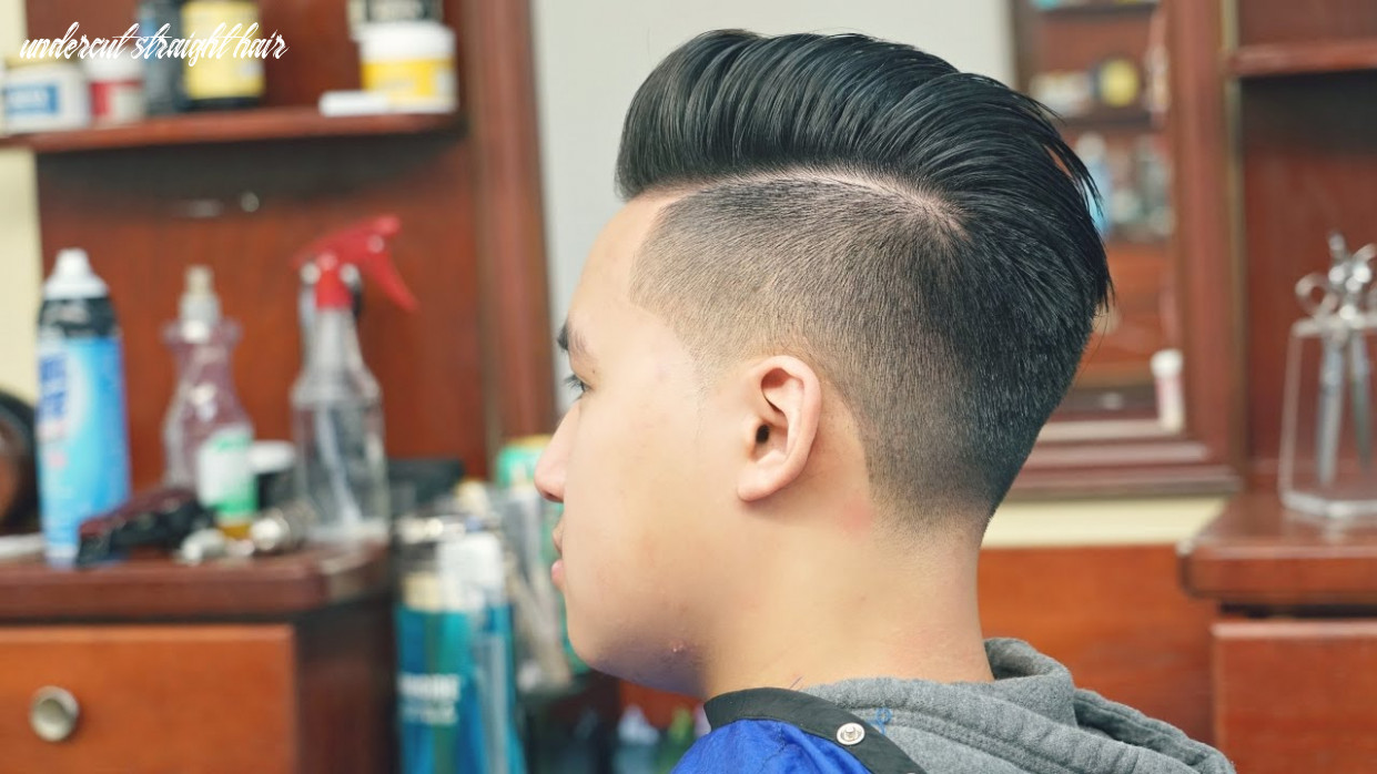 How To Cut Straight, Thick, Hair: Undercut With Pompadour
