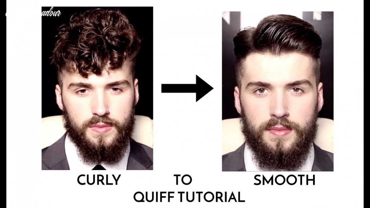 MEN'S CURLY TO SMOOTH EASY QUIFF TUTORIAL 9