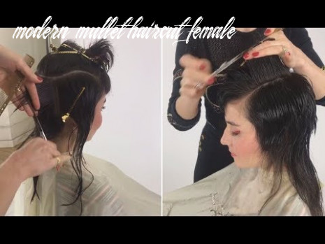 Modern Mullet haircut for women! step by step tutorial
