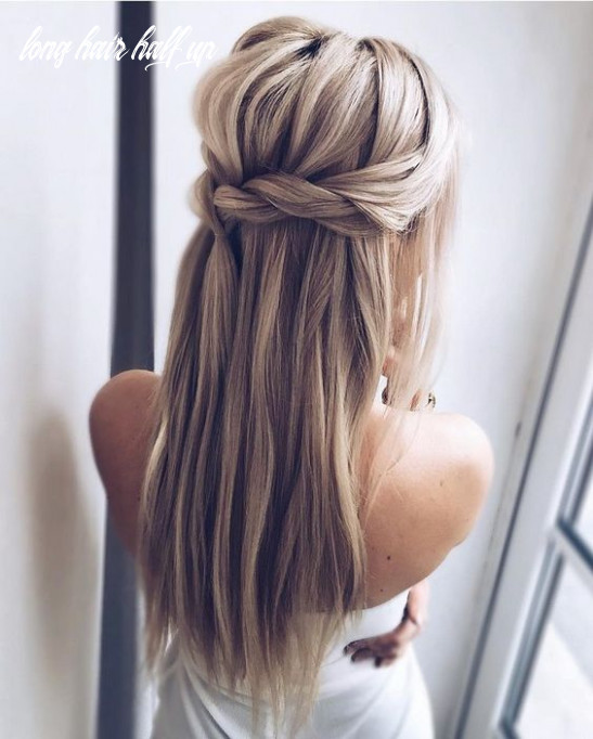 Picture Of a Dutch braided half updo hairstyle with long hair down ...