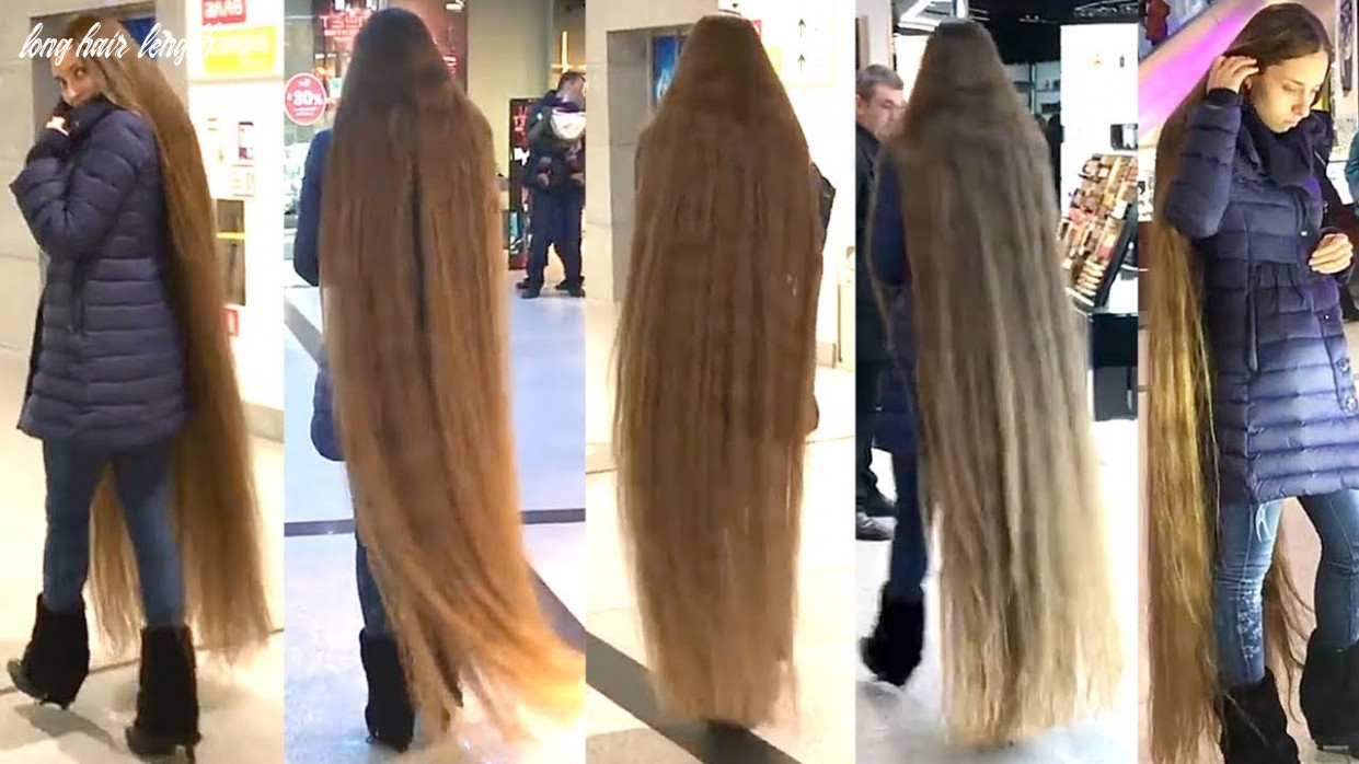 Rapunzel Exists! Floor Length Hair In Shopping Mall!