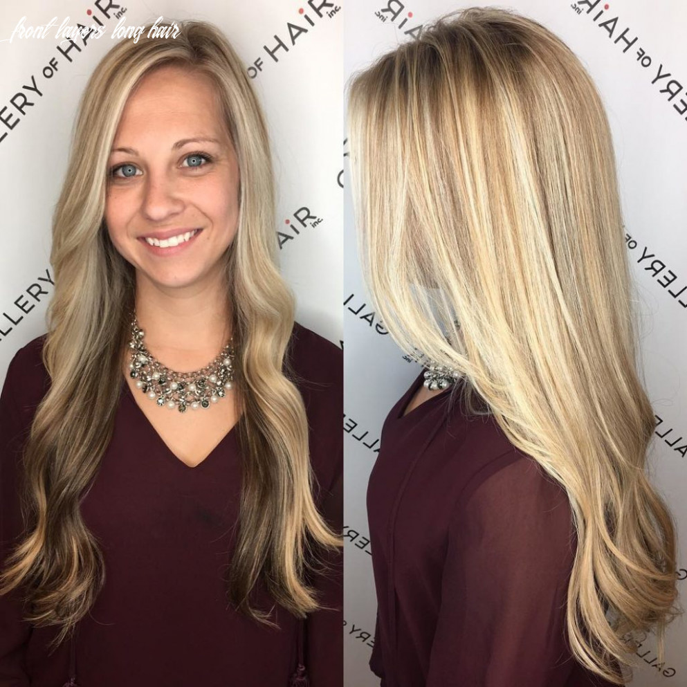Women's Long Blonde Highlighted Hair with Front Layers and Soft ...