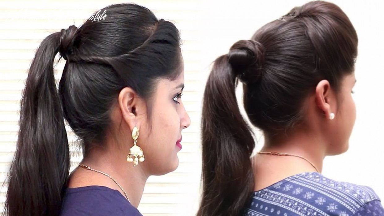 11 EASY Ponytail Hairstyles For School, College || Prom Ponytail ...