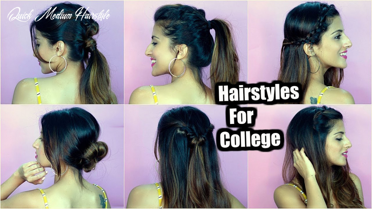 11 QUICK & EASY Back To College Hairstyles For Medium To Long Hair / Special  Giveaway