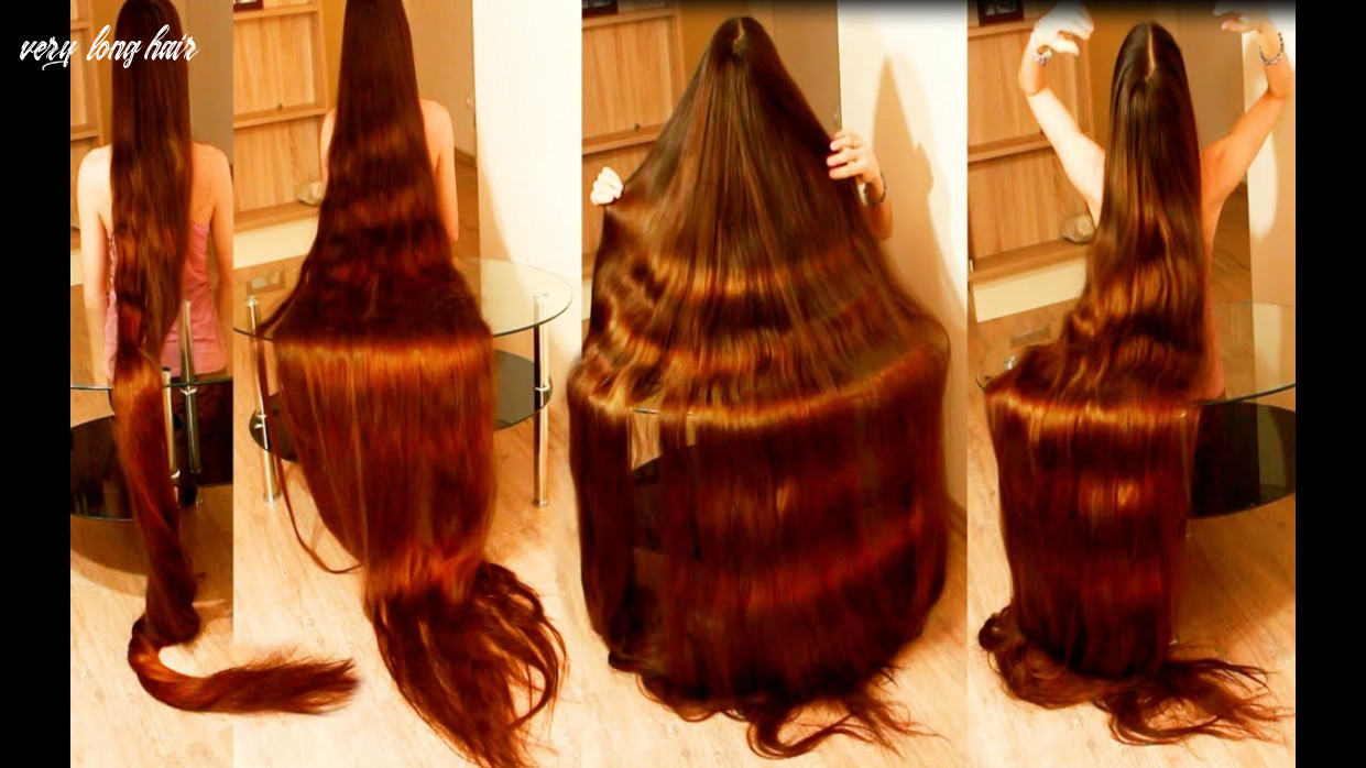 My very long hair - Silk hair is played on a glass table - Real life  Rapunzel
