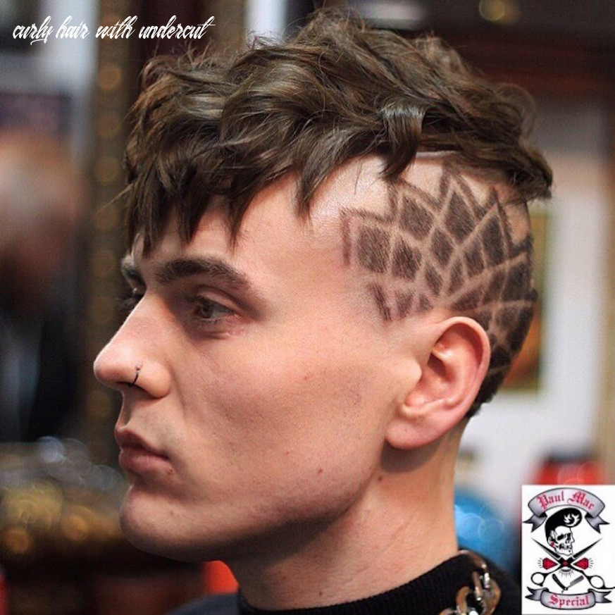 Undercut Hairstyle For Thick Curly Hair + Cool Hair Design / Men