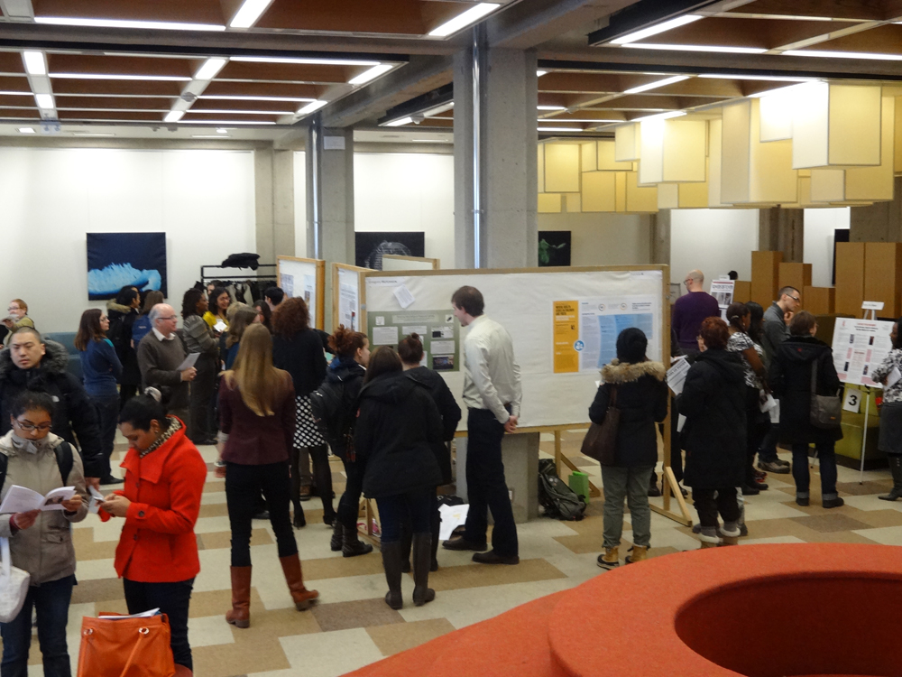 picture of people attending the undergraduate research fair in 2013