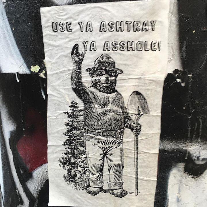 A word from Smokey the Bear. Use ya ashtray!