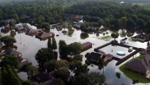 Flooded house near Baton Rouge.