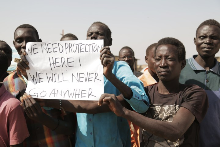Silent protest in the Protection of Civilians site in Malakal on February 26, 2016. They demanded accountability for the international community's failure to protect civilians effectively. Source: World Humanitarian Summit, Flickr.