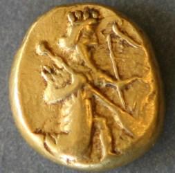 Persian Achaemenid Coin: Gold Daric, circa 490BC