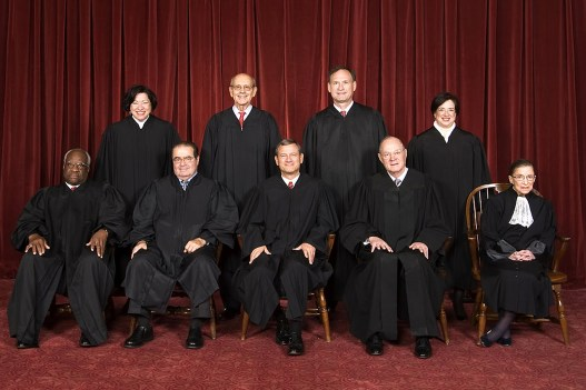 The Roberts Court (2005-present). This photo includes the late Judge Scalia, whose death has caused controversy over the future of the Supreme Court and his own seat. (Source: Steve Petteway, Collection of the Supreme Court of the United States - Roberts Court (2010-) - The Oyez Project)