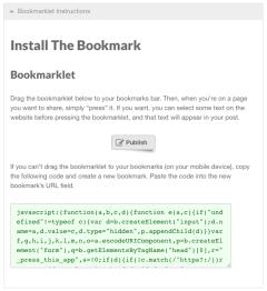 Bookmarklet Setup