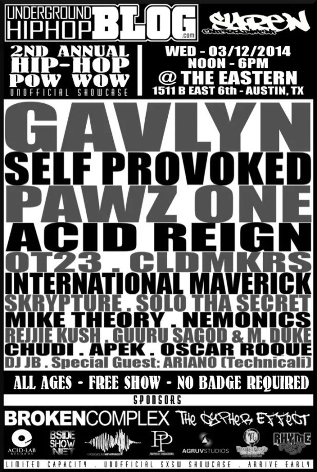 GAVLYN SXSW 2014 UNOFFICIAL . PRINT