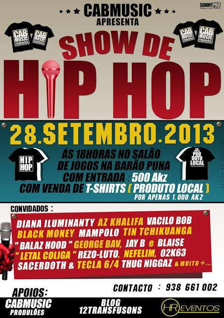 Evento: Cabmusic Apresenta - Show de Hip Hop | dia 28/09/2013