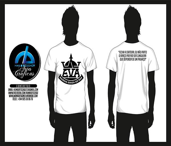Publicidade: As T-Shirts e Casacos da Eva Rap Diva  já estão disponíveis
