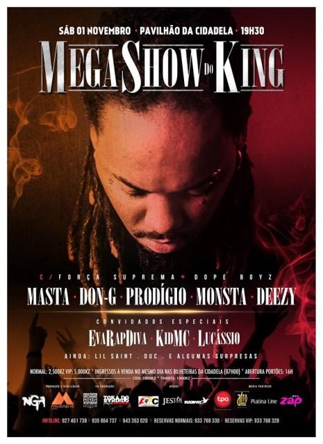 Mega Show de NGA  em Luanda / Sábado 1 de Novembro no Pavilhão da Cidadela as 19h30