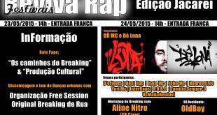 Primeira Edição do Festival Reviva Rap no Interior Acontece dias 23 e 24 de Maio em Jacareí